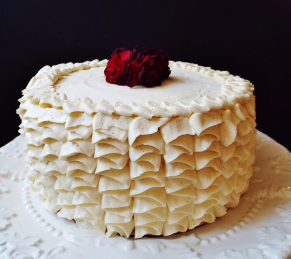 Vanilla Almond Cake With Swiss Meringue Vanilla Bean ...